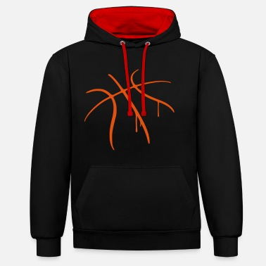 Team basketball - Contrast Colour Hoodie