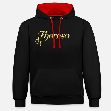 Name Day Theresa name first name women name day - Contrast Colour Hoodie