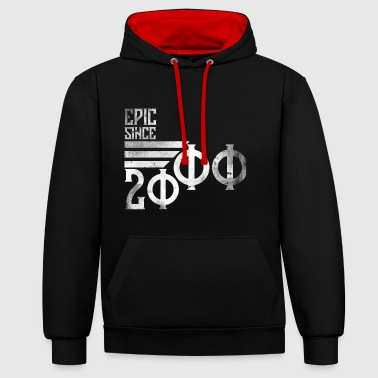 18th Birthday 18th Birthday Gift Vintage 2000 epic since - Contrast Colour Hoodie