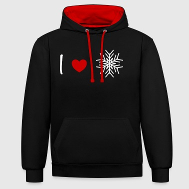 love snowflakes - Contrast Colour Hoodie