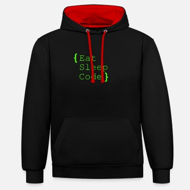 Code eat sleep code - Contrast Colour Hoodie