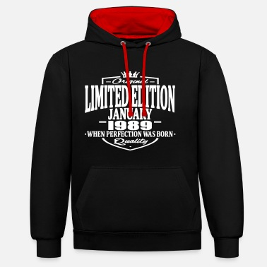 1989 Limited edition january 1989 - Contrast Colour Hoodie