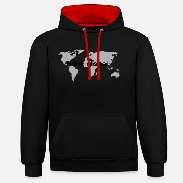 Global penser global - Sweat-shirt contraste