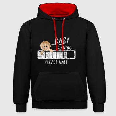 Gift Pregnant Woman Pregnant Pregnancy - Contrast Colour Hoodie