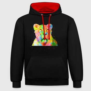 Lion Lionne lion lion - Sweat-shirt contraste