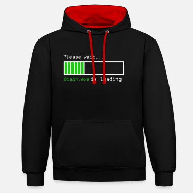 Computer Brain.exe is loading - Contrast Colour Hoodie