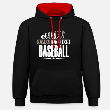 Équipe de Baseball Cadeaux Baseball Home Run - Sweat-shirt contraste