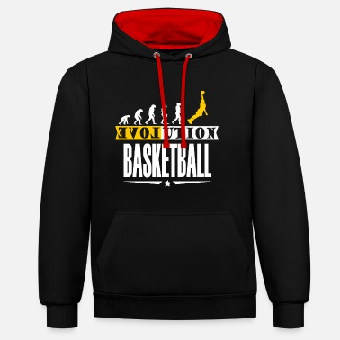 Équipe de basket-ball cadeau de basket-ball Dunking - Sweat-shirt contraste