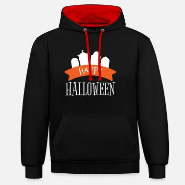 Tombstone Halloween tombstone - Contrast Colour Hoodie