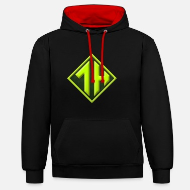 Youtuber OneHourGuy Logo - Contrast Colour Hoodie