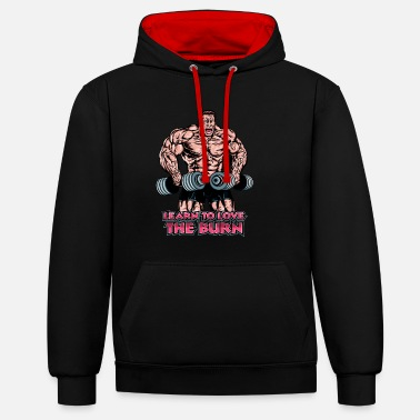 Burning Burn - Contrast Colour Hoodie