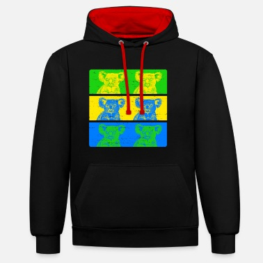 Couleurs Vives Koala aux couleurs vives - Sweat-shirt contraste