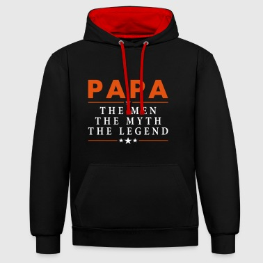 PAPA THE LEGEND - Contrast Colour Hoodie