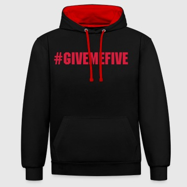 Five Give me Five - Sweat-shirt contraste