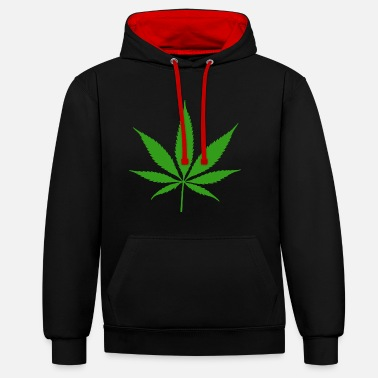Feuille De Cannabis feuille de cannabis - Sweat-shirt contraste