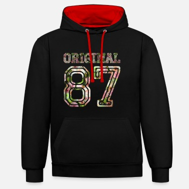 1987 1987 - Contrast Colour Hoodie