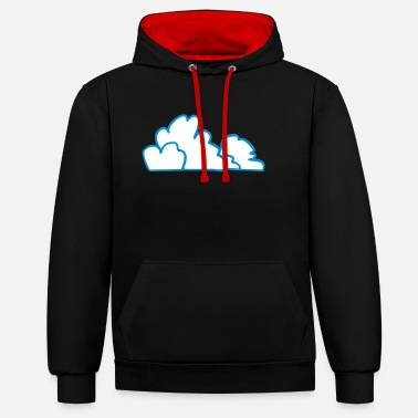 Nuage nuages - Sweat-shirt contraste