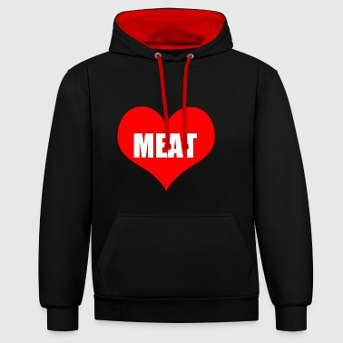 Meat meat - Contrast Colour Hoodie