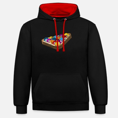 Billiard Ball Billiard balls gift billiard balls billiards - Contrast Colour Hoodie