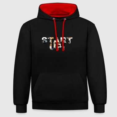 StartUp! - Contrast Colour Hoodie
