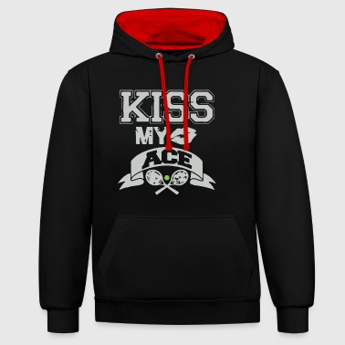KISS MY ACE - Contrast Colour Hoodie