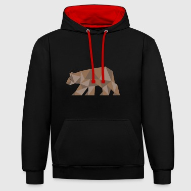 Ours ours Ours brun - Sweat-shirt contraste