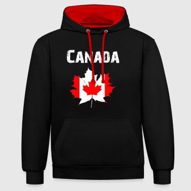 Nation-Design Kanada Maple Leaf RLUNi - Bluza z kapturem z kontrastowymi elementami