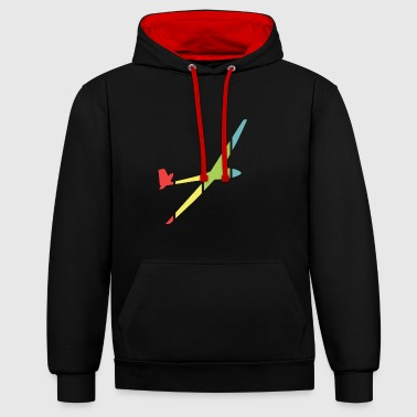 Glide gliding - Contrast Colour Hoodie