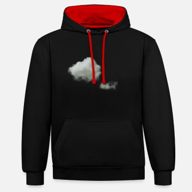 clouds - Contrast Colour Hoodie