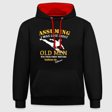 Tae Kwon Do Veteraan Male - Contrast hoodie