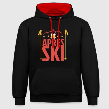 Apres ski huts outfit - Contrast Colour Hoodie
