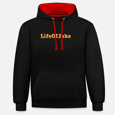 Jake Life Of Jake - Contrast Colour Hoodie