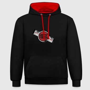 Metal Music rock and metal music - Contrast Colour Hoodie