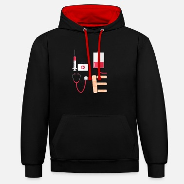 Nurse Love T-Shirt | For Registered Nurses - Contrast Colour Hoodie