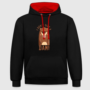 50. Geburtstag I dont give a dam - Kontrast-Hoodie