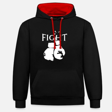 Boxing Gloves Fight boxer shirt gift boxing boxing gloves - Contrast Colour Hoodie