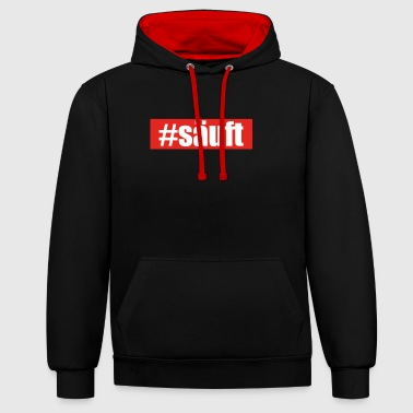 drunk # drunk INSTEAD # runs with you malle jga - Contrast Colour Hoodie