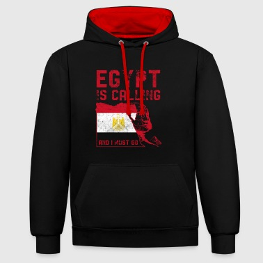 Egypt Egypt is calling - Contrast Colour Hoodie