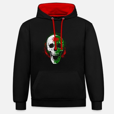 Celte Wales skull Halloween dragon Celts - Contrast Colour Hoodie