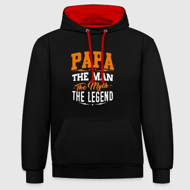 Father's Day T-shirt - Papa Man Myth Legend - Sweat-shirt contraste