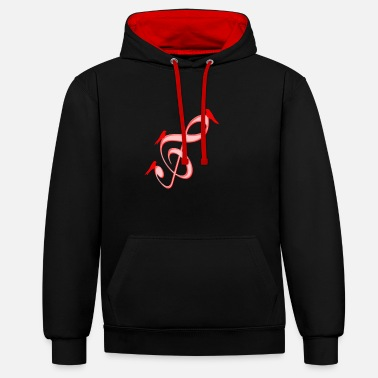 Music Note Musical Notes Violin Music Notes Music - Contrast Colour Hoodie