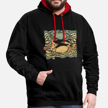 Crab crab - Contrast Colour Hoodie
