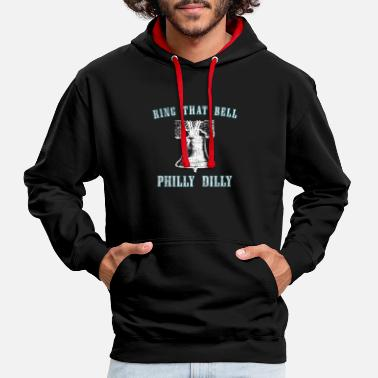 Liberty Bell Philly Dilly Ring that Bell Liberty Bell Crack - Contrast Colour Hoodie