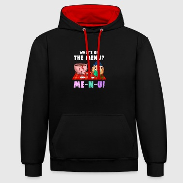 Meal Menu meal meal - Contrast Colour Hoodie