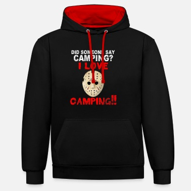 Jason Friday 13 HALLOWEEN - Contrast Colour Hoodie