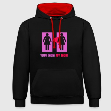 Your Mom My Mom - Contrast Colour Hoodie