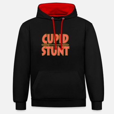 Cupid Do a Cupid Stunt this holiday to your friends and - Contrast Colour Hoodie