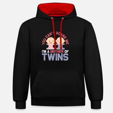 Mother twins - Contrast Colour Hoodie