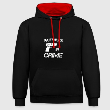 Partners in crime Partners in Crime idee - Contrast hoodie