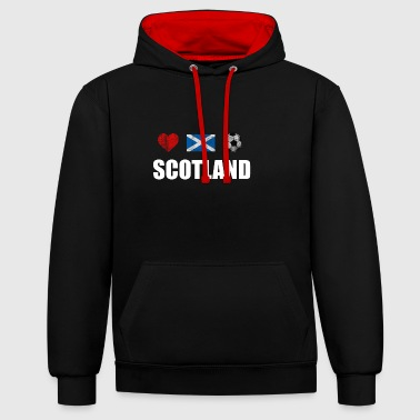 Scotland Football Shirt - Scotland Soccer Jersey - Contrast Colour Hoodie